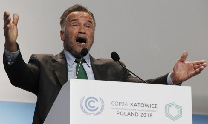Arnold Schwarzenegger speaks at COP24