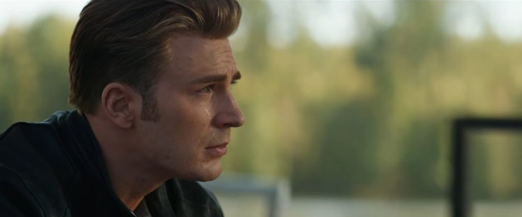 Captain America in tears