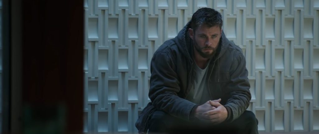 Sad Thor sitting down