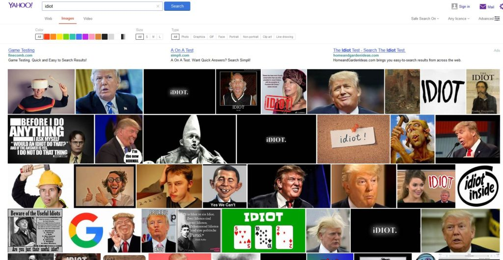 Yahoo Search Idiot Images 12 Dec 2018