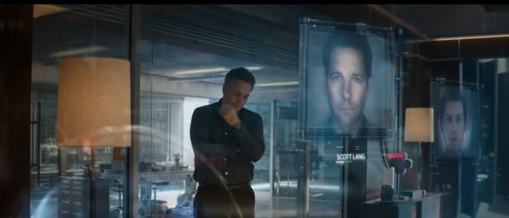 Bruce Banner reviewing list of missing people , in this show we see AntMan and Spider Man on the missing list