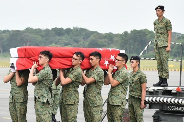 Body of Aloysius Pang Wei Chong arrived back in Singapore