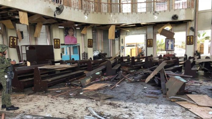 Two bombs hit Philippines Roman Catholic Cathedral