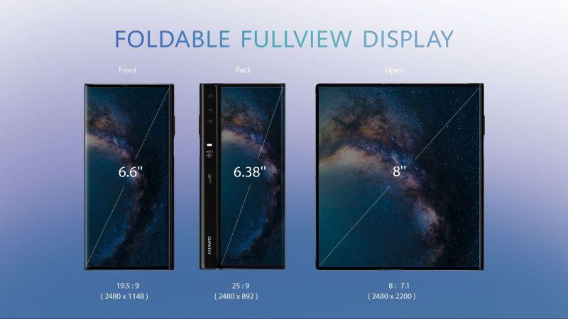 HUAWEI Mate X Foldable Fullview Display