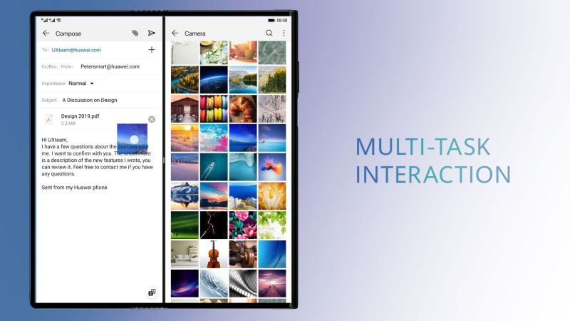 HUAWEI Mate X Multi-Task Interaction
