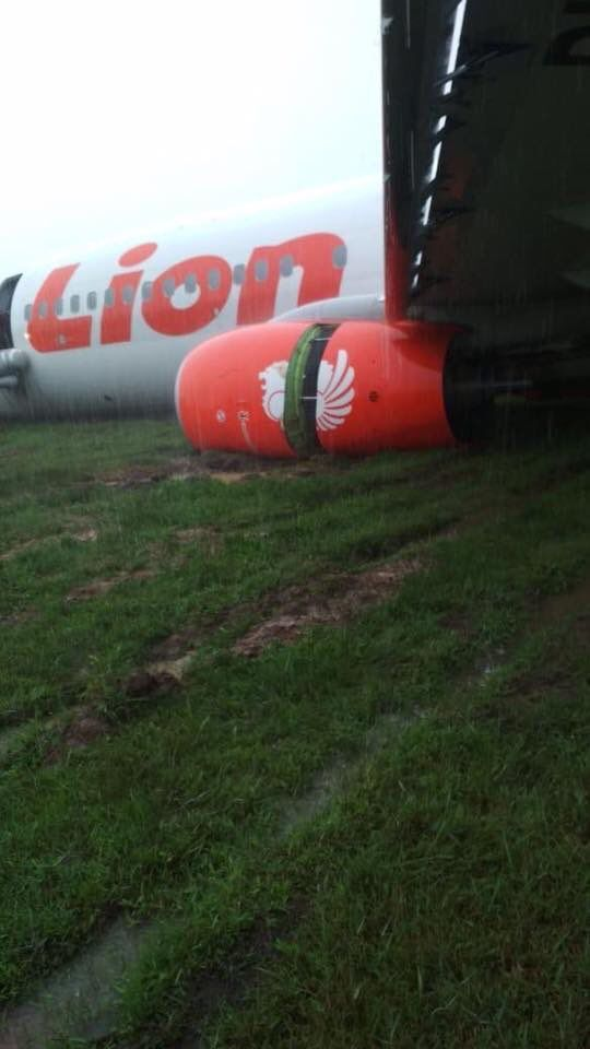 Lion Air JT714 skids off runway while landing at Pontianak airport Indonesia