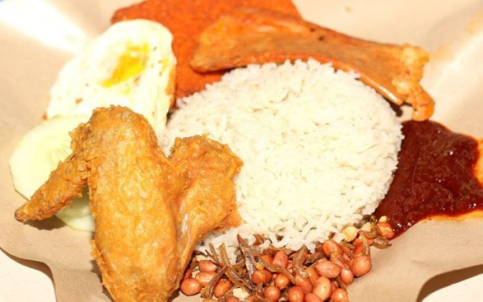 Nasi Lemark Dish served on a plate