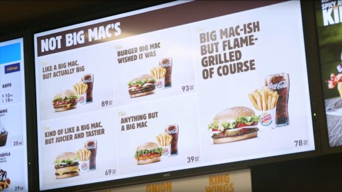 Burger King trolls McDonald's with
