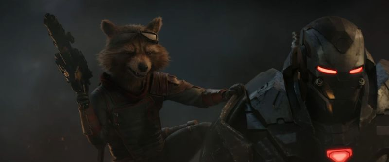 Avengers Endgame Trailer - Rocket and Warmachine Teamup