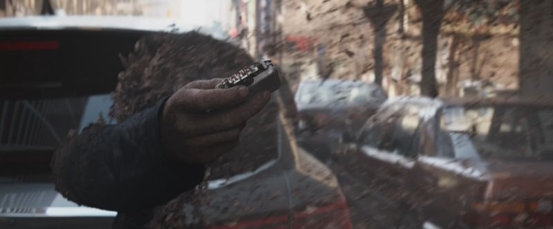 Nick Fury's pager scene from Avengers Infinity War