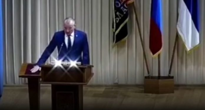 Star Wars theme played during Russia Mayor Yuri Galdun Oath