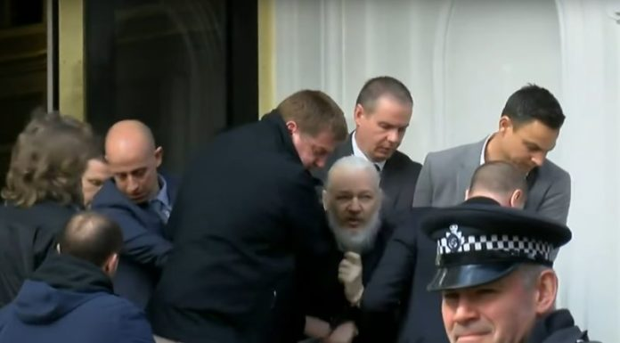 Julian Assange Wikileaks co-founder arrested at Ecuadorian embassy in London