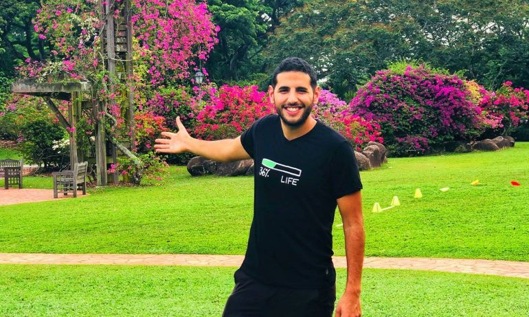 Nuseir Yassin announce Nas Daily Meetup at Singapore Botanic Gardens