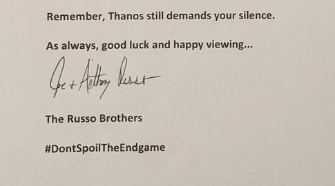 Russo Brothers tells Marvel fans DontSpoilTheEndgame