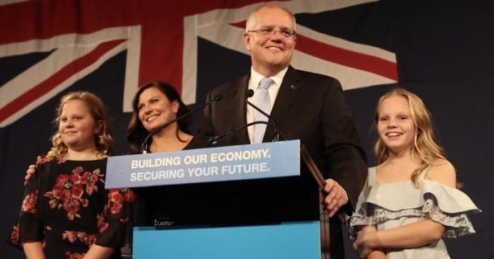 Scott Morrison claims victory in Australia election 2019