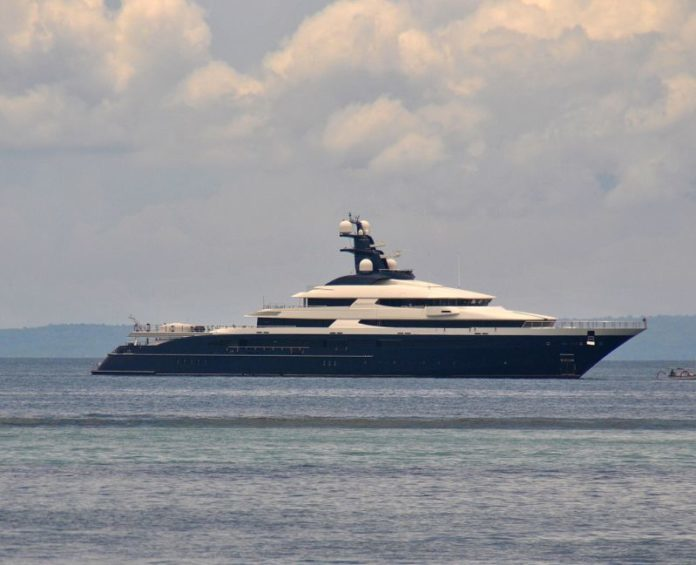 Superyacht Equanimity renamed to Tranquility currently docked in Singapore