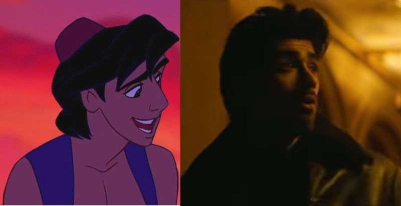 Zayn Malik does look very much like the animated version of Aladdin from the 1992 cartoon.