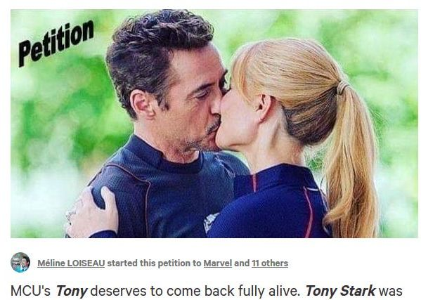 Marvel fans petition to bring Tony Stark back to life