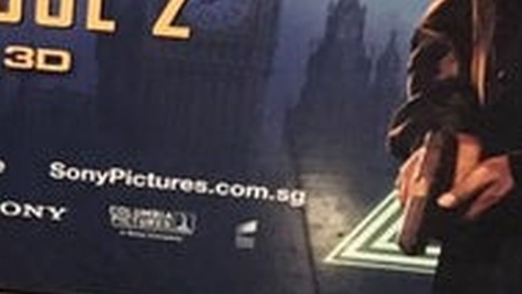 Spiderman Promotional banner Error from Singapore