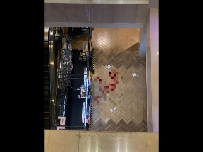 35 year old man fell to his death in Singapore Ngee Ann City - pixelated