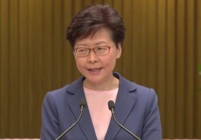 Hong Kong leader Carrie Lam said extradition bill was dead