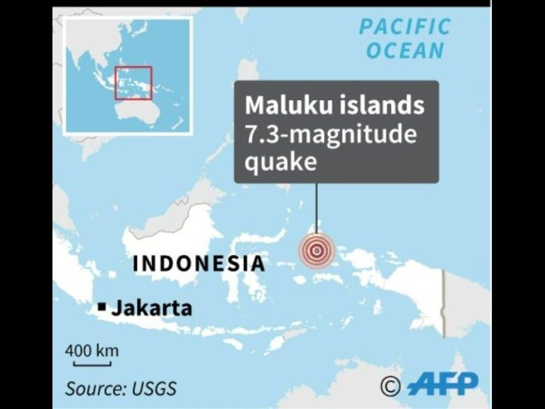 Major 7.3 magnitude earthquake strikes eastern indonesia