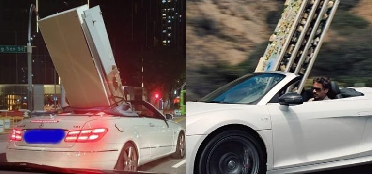 Tony Stark spotted in Singapore driving furniture