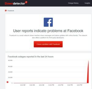 Downdetector Facebook 04 Oct 2021